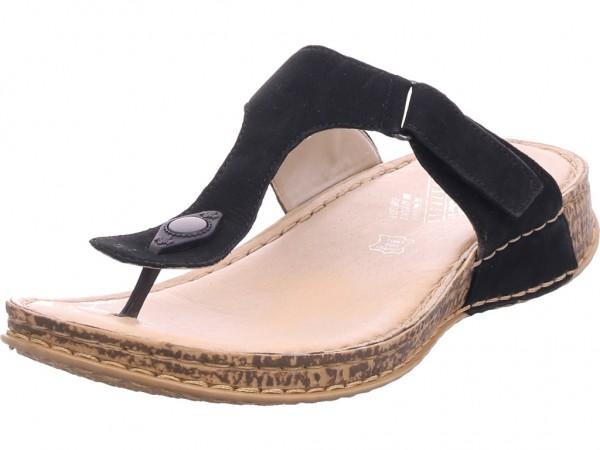 Rieker Damen Pantolette Sandalen Hausschuhe schwarz 61165-00